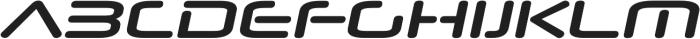 Neuropol Nova Expanded Bold Italic otf (700) Font UPPERCASE