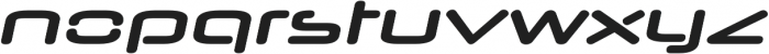 Neuropol Nova Expanded Bold Italic otf (700) Font LOWERCASE
