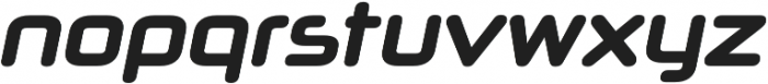 Neuropol X Condensed Bold Italic otf (700) Font LOWERCASE