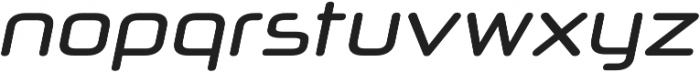 Neuropol X Condensed Italic otf (400) Font LOWERCASE