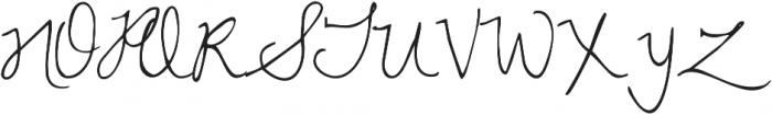 Never Say Never ttf (400) Font UPPERCASE