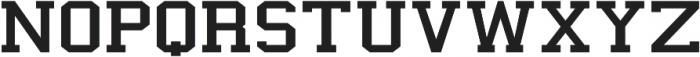 New Academia Expanded Regular otf (400) Font UPPERCASE