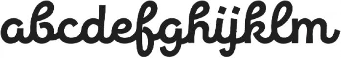 New Jonesy Latin Rough Script otf (400) Font LOWERCASE