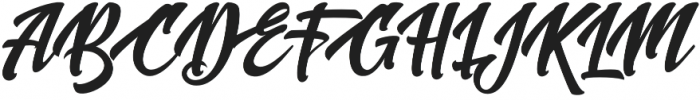 New shine script Regular otf (400) Font UPPERCASE