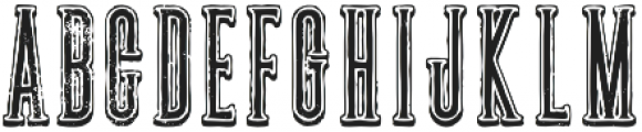 New york shadow grunge otf (400) Font UPPERCASE