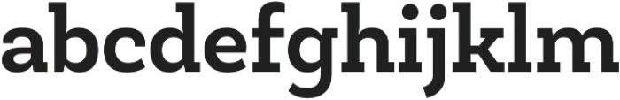 Newslab Bold otf (700) Font LOWERCASE