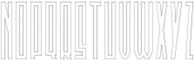Newton Outline otf (400) Font UPPERCASE