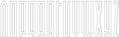 Newton Outline otf (400) Font LOWERCASE
