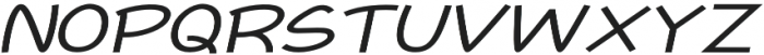 Newtopia Expanded Italic otf (400) Font UPPERCASE