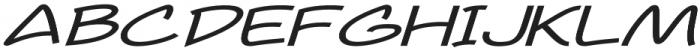 Newtopia Extra-expanded Italic otf (400) Font UPPERCASE