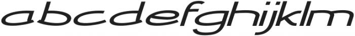 Newtopia Extra-expanded Italic otf (400) Font LOWERCASE