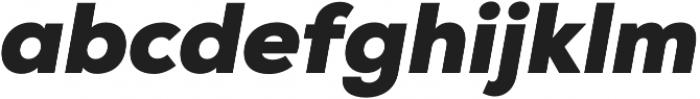 Nexa Black Italic otf (900) Font LOWERCASE