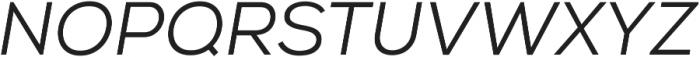 Nexa Book Italic ttf (400) Font UPPERCASE