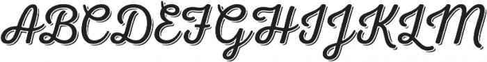 Nexa Rust Script L Shadow 00 otf (400) Font UPPERCASE