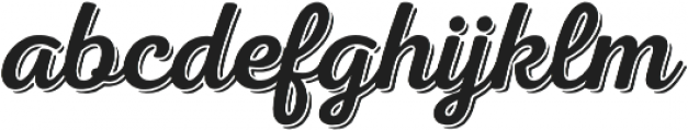 Nexa Rust Script R Shadow 00 otf (400) Font LOWERCASE
