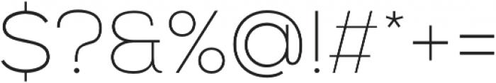 Nexa Thin otf (100) Font OTHER CHARS
