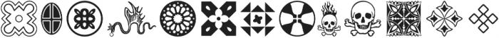 Nexodus Ornaments otf (400) Font LOWERCASE