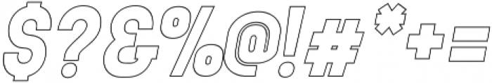 neuron Black Italic Outline ttf (900) Font OTHER CHARS
