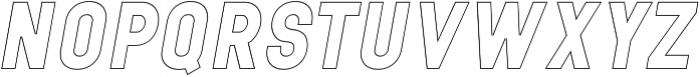neuron Black Italic Outline ttf (900) Font UPPERCASE