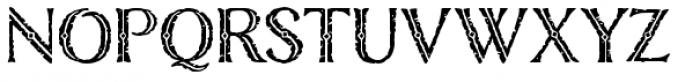 Nelson Engraved Font UPPERCASE