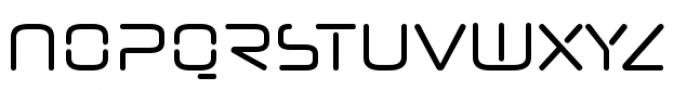 Neuropol Nova Condensed Regular Font UPPERCASE