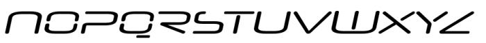 Neuropol Nova Extra Regular Italic Font UPPERCASE
