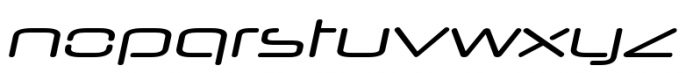 Neuropol Nova Extra Regular Italic Font LOWERCASE
