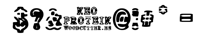 NEO PROTEIN Font OTHER CHARS