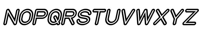 NEON GLOW Bold Italic Font UPPERCASE