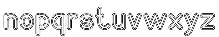 NEON GLOW-Hollow Font LOWERCASE