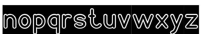 NEON GLOW-Inverse Font LOWERCASE