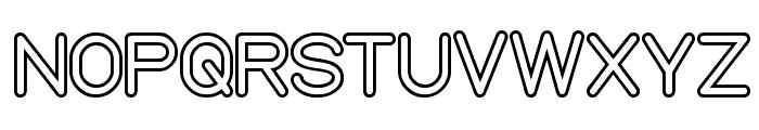 NEON GLOW Font UPPERCASE