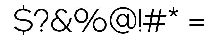 NEXTART-Light Font OTHER CHARS