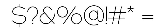 NEXTART-Thin Font OTHER CHARS