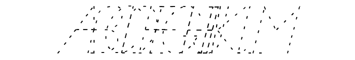 NealFont Font UPPERCASE