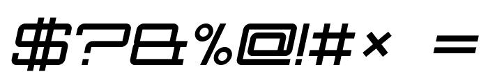 Nec plus ultra Italic Font OTHER CHARS