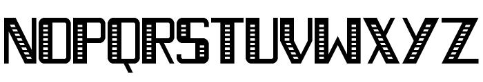 Necktie Stripes Regular Font UPPERCASE