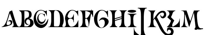 Necromantic Font UPPERCASE