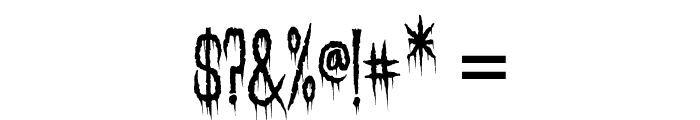 Needleteeth Creepy Font OTHER CHARS