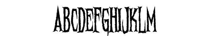 Needleteeth Psycho Font UPPERCASE