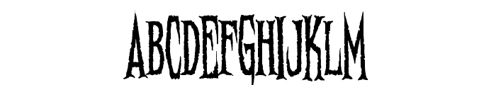 Needleteeth Psycho Font LOWERCASE