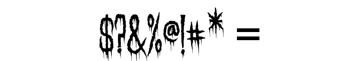 Needleteeth Spooky Font OTHER CHARS