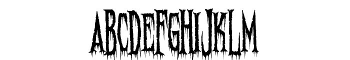 Needleteeth Spooky Font UPPERCASE
