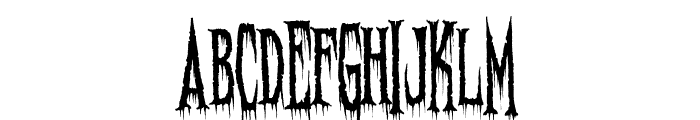 Needleteeth Spooky Font LOWERCASE