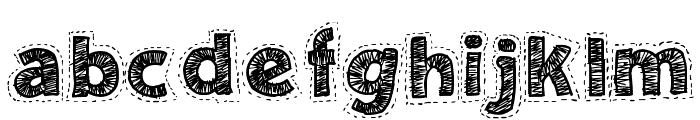 Needlework Good Font LOWERCASE
