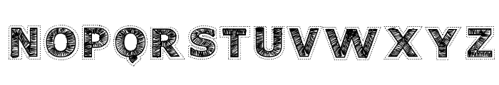 Needlework Perfect Font UPPERCASE