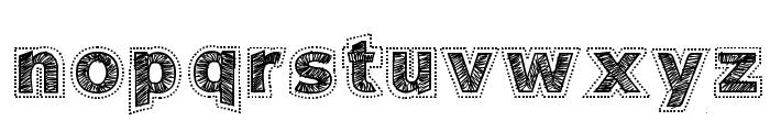 Needlework Perfect Font LOWERCASE