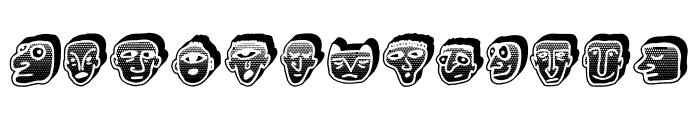 Negative Heads Regular Font UPPERCASE