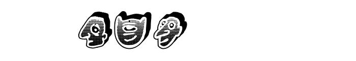 Negative Heads Regular Font LOWERCASE