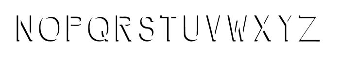 NegativeSpace Font UPPERCASE